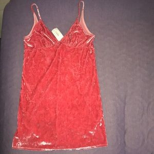 Never worn velvet cami dress